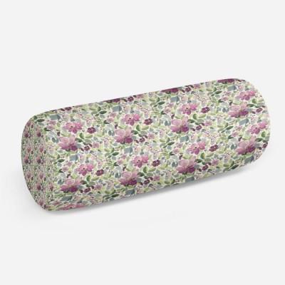 3D подушка-валик «Узор с цветами»
