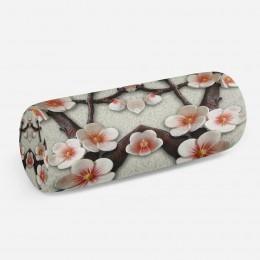 3D подушка-валик «Ветви сакуры»
