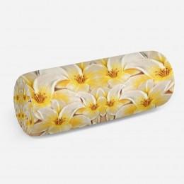 3D подушка-валик «Объемные лилии»