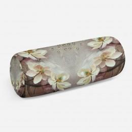 3D подушка-валик «Объемные цветущие ветки»