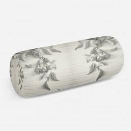 3D подушка-валик «Рельеф с ниспадающими цветами»