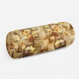3D подушка-валик «Объемные китайские вазы»