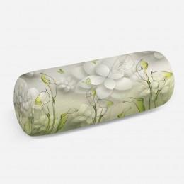 3D подушка-валик «Зеленые каллы»