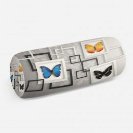 3D подушка-валик «Коллекция бабочек»