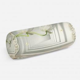 3D подушка-валик «Тоннель с лотосами»