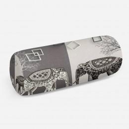 3D подушка-валик «Слоны в стиле модерн»