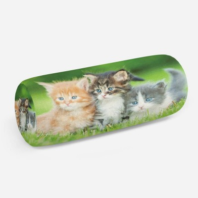 3D подушка-валик «Котятки»