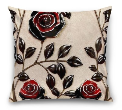 3D Подушка «Черные розы под керамику»