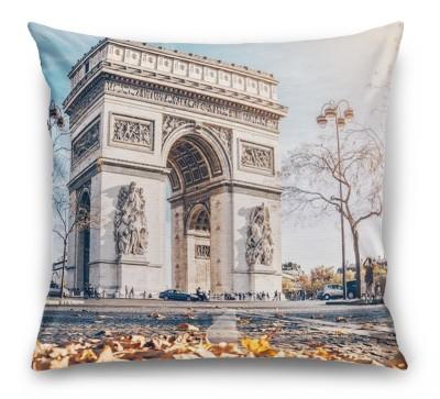 3D Подушка «Триумфальная Арка осенью»
