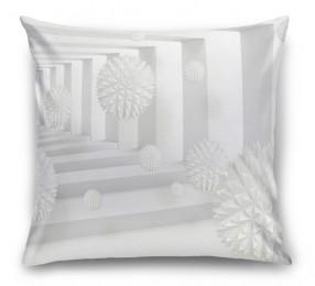 3D Подушка «Колючие шары в тоннеле»