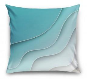 3D Подушка «Волнистая стена»