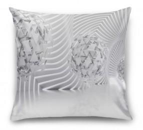 3D Подушка «Абстрактная композиция со сферами из треугольников»