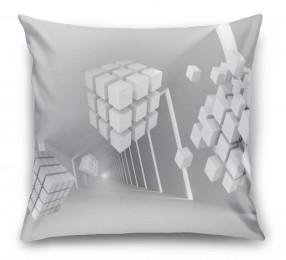 3D Подушка «Кубы летящие по тоннелю»