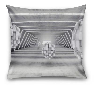 3D Подушка «Футуристичный ангар с парящими сферами»