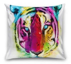 3D Подушка «Красочный тигр»