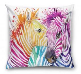 3D Подушка «Акварельные зебры»