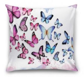 3D Подушка «Красочные бабочки»