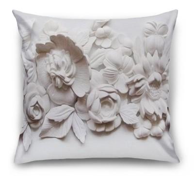3D Подушка «Цветочная лепнина»