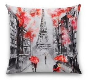 3D Подушка «Париж - город любви»