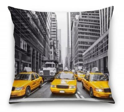 3D Подушка «Такси в Нью-Йорке»