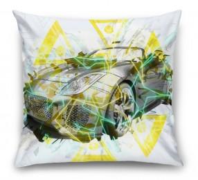 3D Подушка «Кабриолет в абстрактном стиле»