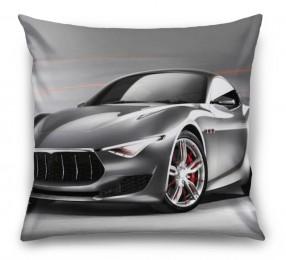 3D Подушка «Современный автомобиль в серых тонах»