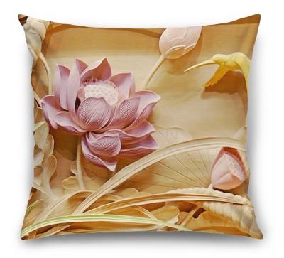 3D Подушка «Цветы с тиснением»