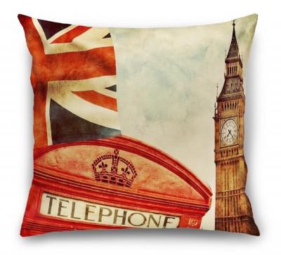 3D Подушка «Фреска Лондон»