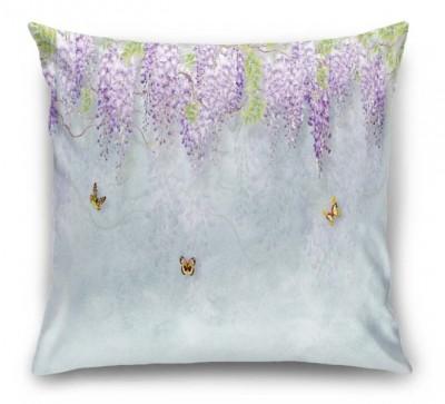 3D Подушка «Сирень с бабочками»