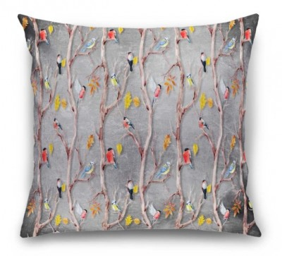 3D Подушка «Осенний этюд с птицами»