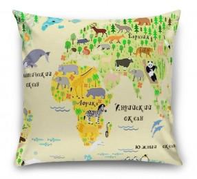 3D Подушка «Карта мира для детской»