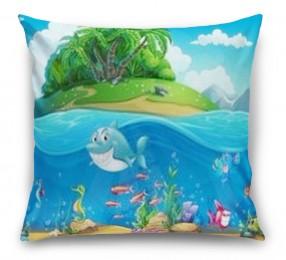 3D Подушка «Мультяшные рыбки»