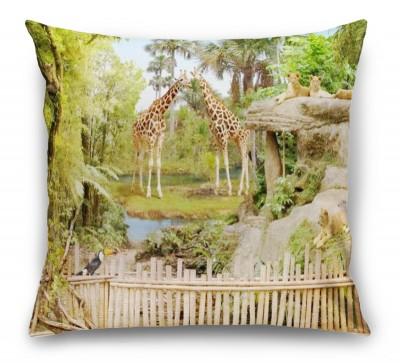 3D Подушка «Экзотический зоопарк»