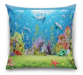 3D Подушка «Газон под водой»
