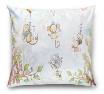 3D Подушка «Мышки на шариках»