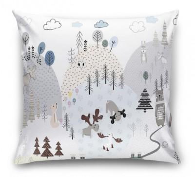 3D Подушка «Скандинавская полянка»