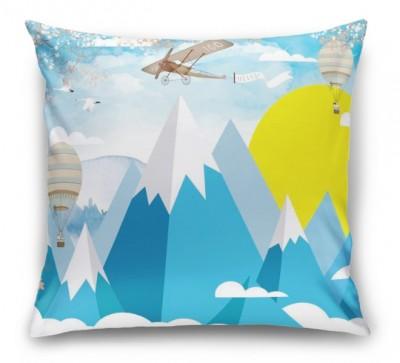 3D Подушка «Полеты над объемными горами»
