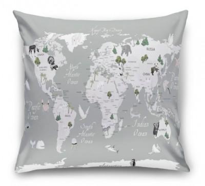 3D Подушка «Художественная карта на английском»
