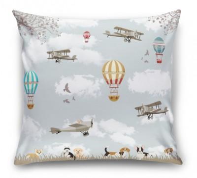 3D Подушка «Воздушные шары с собачками»
