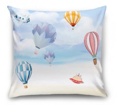3D Подушка «Небесная фантазия с воздушными шарами»