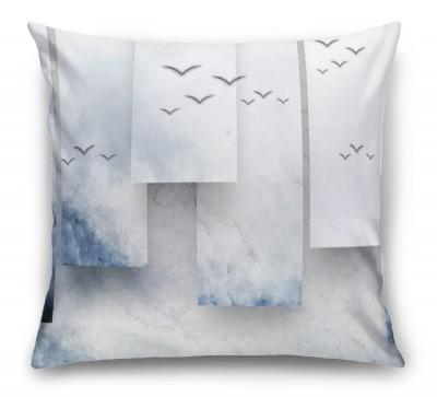 3D Подушка «Птицы в тумане»