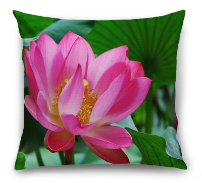 3D Подушка «Ярко-розовый лотос»