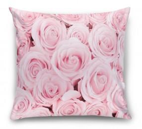3D Подушка «Ковер из нежно-розовых роз»