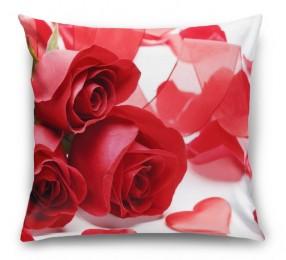3D Подушка «Композиция с алыми розами»