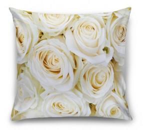 3D Подушка «Нежные кремовые розы»