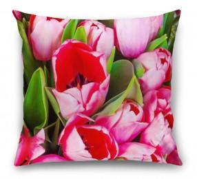 3D Подушка «Букет тюльпанов»
