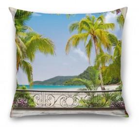 3D Подушка «Пальмы на берегу океана»
