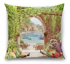 3D Подушка «Павлины в саду»