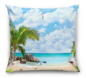 3D Подушка «Лазурный пляж»