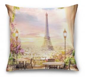 3D Подушка «Парижский ресторанчик»
